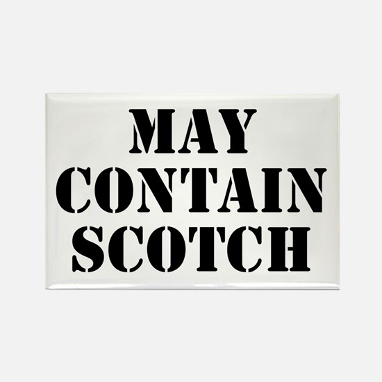 May Contain Scotch Rectangle Magnet