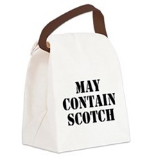 May Contain Scotch Canvas Lunch Bag