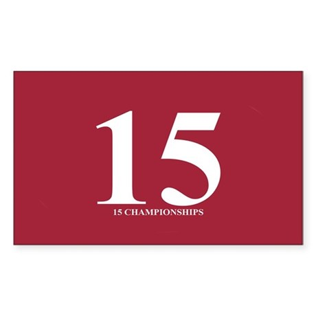15 Championships II Sticker (Rectangle)