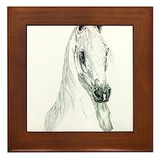 Arabian Spirit Horse Art Framed Tile