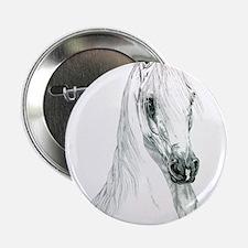 """Arabian Spirit Horse Art 2.25"""" Button"""