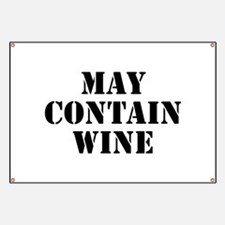 May Contain Wine Banner