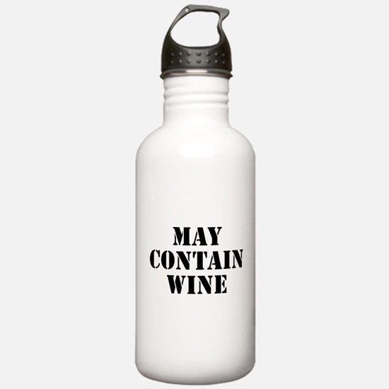 May Contain Wine Water Bottle