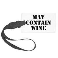 May Contain Wine Luggage Tag