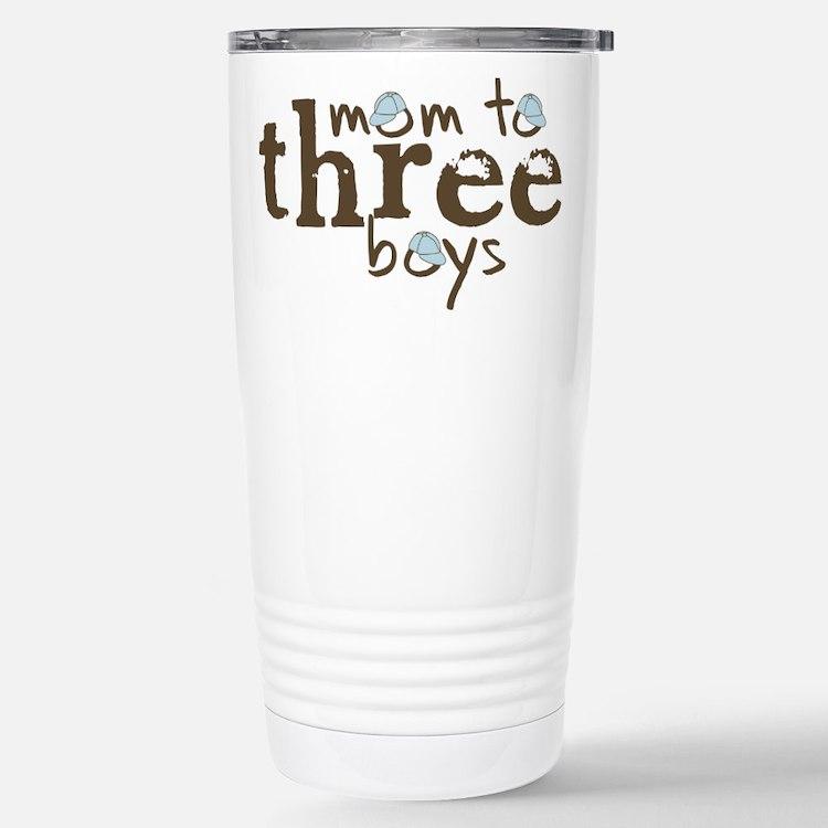 Cute Mom to three boys Travel Mug