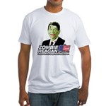 Zombie Reagan for President Fitted T-Shirt