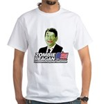 Zombie Reagan for President White T-Shirt