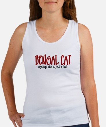 Bengal Cat JUST A CAT Women's Tank Top