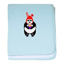 Easter Panda baby blanket
