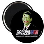 Vote Zombie Reagan in 2008 Magnet