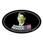 Vote Zombie Reagan in 2008 Oval Sticker
