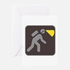Caving Spelunking Potholing Greeting Card