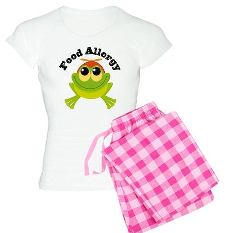 Food Allergy Frog Women's Light Pajamas