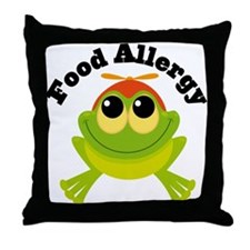 Food Allergy Frog Throw Pillow