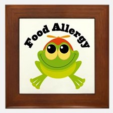 Food Allergy Frog Framed Tile