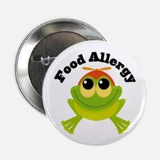 """Food Allergy Frog 2.25"""" Button"""