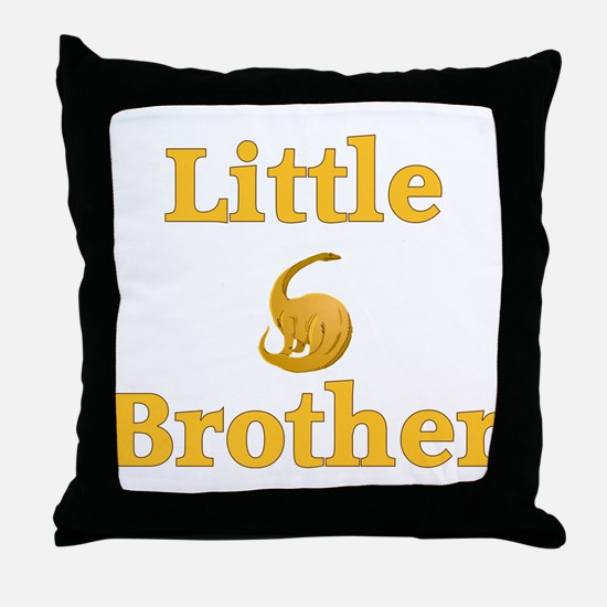 Little Brother Yellow Dinosaur Throw Pillow