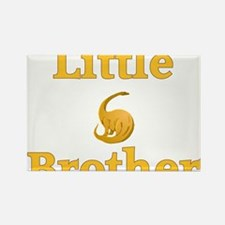 Little Brother Yellow Dinosaur Rectangle Magnet