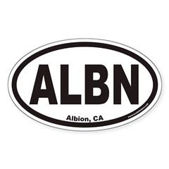 Albion California ALBN Euro Oval Decal