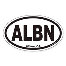 Albion California ALBN Euro Oval Decal