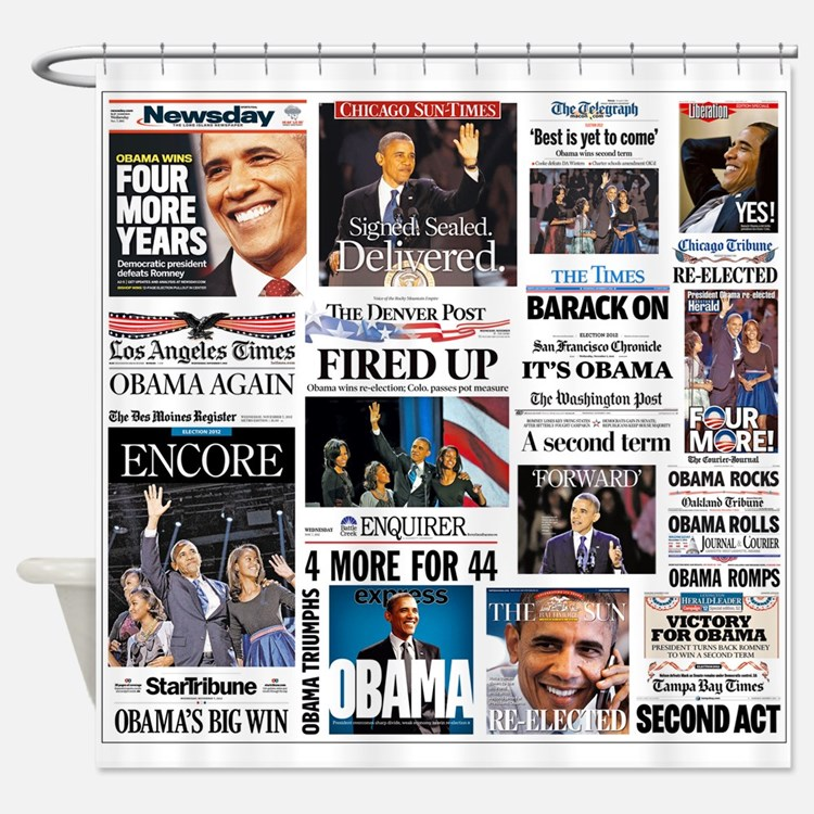 Obama Inauguration Shower Curtain