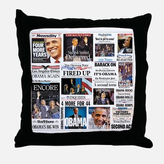 Obama Inauguration Throw Pillow