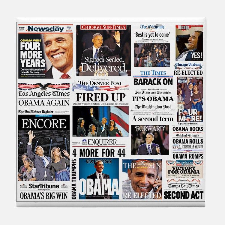 Obama Inauguration Tile Coaster