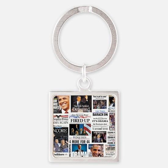 Obama Inauguration Square Keychain