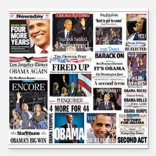 "Obama Inauguration Square Car Magnet 3"" x 3&a"