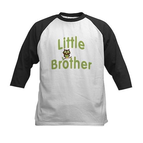 Little Brother Hoot Owl Kids Baseball Jersey