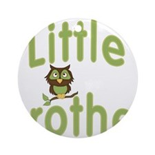 Little Brother Hoot Owl Ornament (Round)