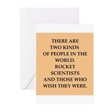 rocket scientist Greeting Cards (Pk of 20)