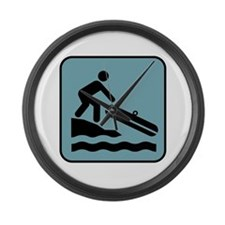 River Rafting Large Wall Clock