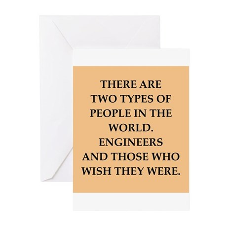 engineers Greeting Cards (Pk of 10)
