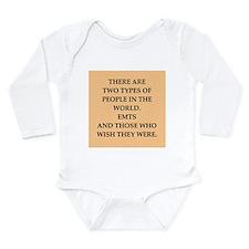 emt Long Sleeve Infant Bodysuit