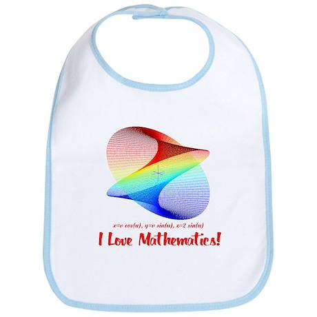 I Love Mathematics Bib