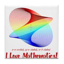 I Love Mathematics Tile Coaster