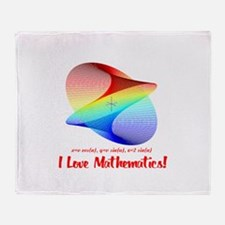 I Love Mathematics Throw Blanket