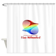 I Love Mathematics Shower Curtain