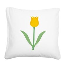 Yellow Tulip. Square Canvas Pillow