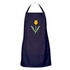 Yellow Tulip. Apron (dark)