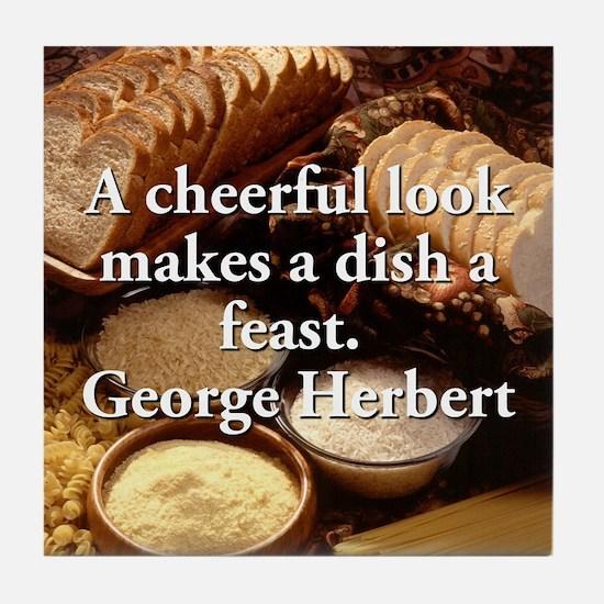 A Cheerful Look - George Herbert Tile Coaster
