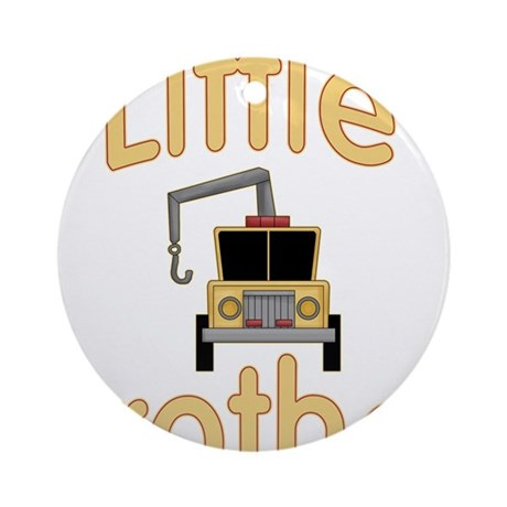 Little Brother Cute Tow Truck Ornament (Round)