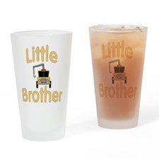 Little Brother Cute Tow Truck Drinking Glass
