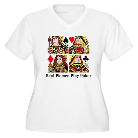 Real Women Play Pokergroup Plus Size T-Shirt