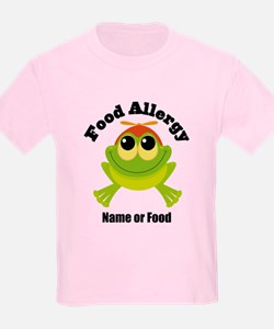 Personalized Food Allergy Frog T-Shirt