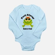 Personalized Food Allergy Frog Long Sleeve Infant