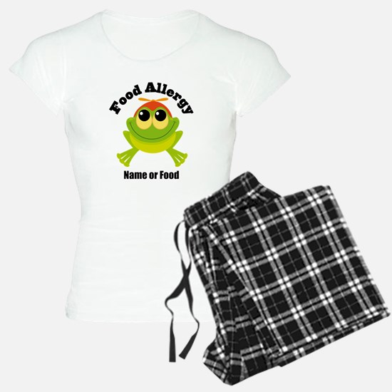 Personalized Food Allergy Frog Pajamas
