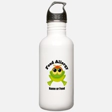 Personalized Food Allergy Frog Water Bottle