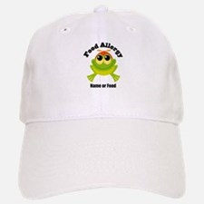 Personalized Food Allergy Frog Baseball Baseball Cap